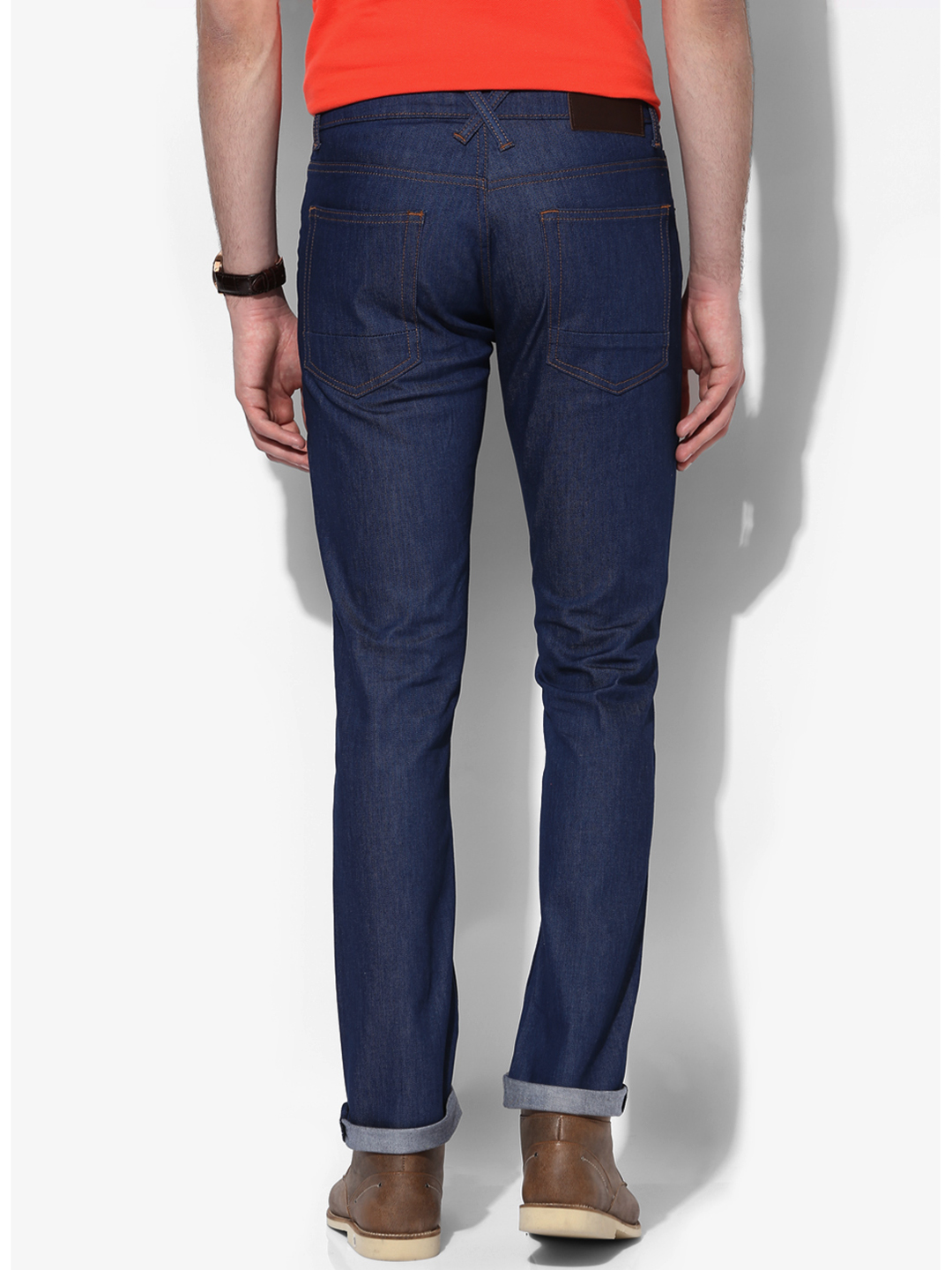 Shopping Long Fitted Denim Plain Basic Jeans online with high-quality and best prices Jeans at Luvyle.