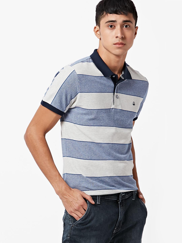 e5de27de47 United Colors Of Benetton off white stripe t-shirt - G3-MTS7043 ...